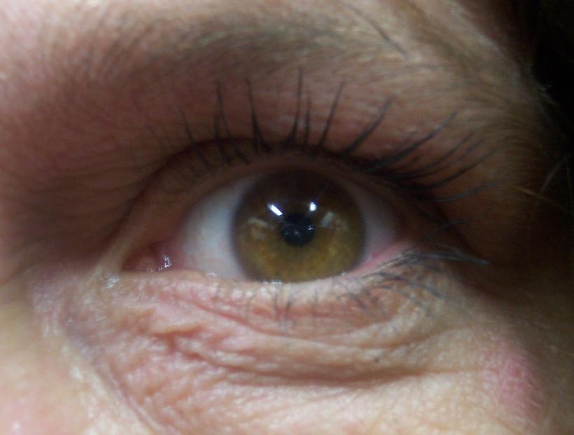 Woman's brown eye