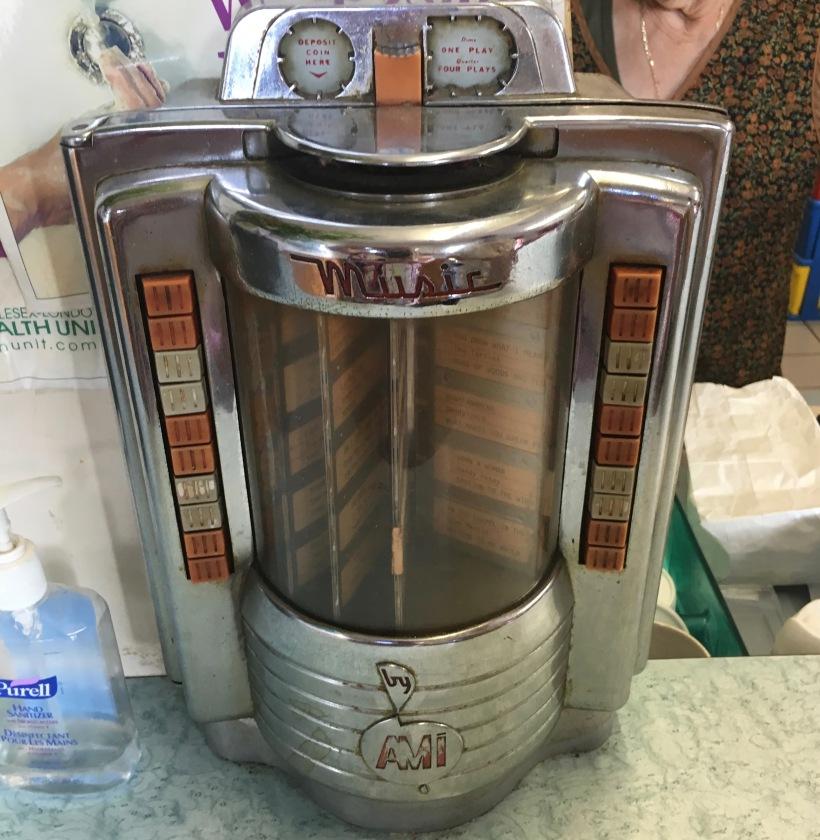 vintage AMI Music diner jukebox