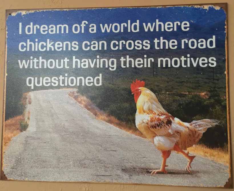 funny chicken poster